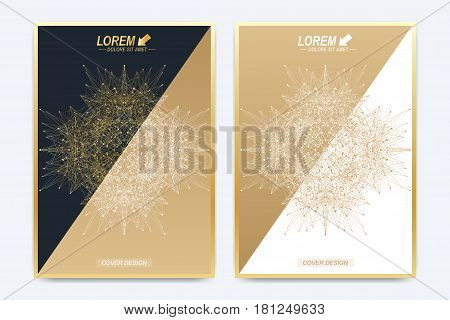 Modern vector template for brochure, leaflet, flyer, cover, catalog, magazine or annual report in A4 size. Business, science and technology design book layout. Minimalist style concentric circle