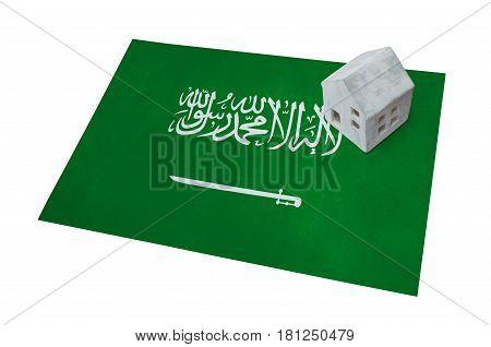 Small House On A Flag - Saudi Arabia