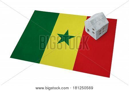 Small House On A Flag - Senegal