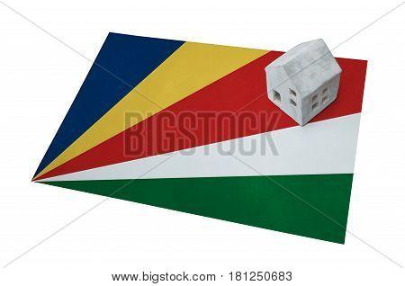 Small House On A Flag - Seychelles