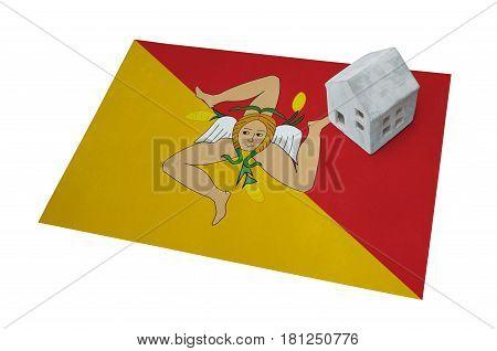 Small House On A Flag - Sicily