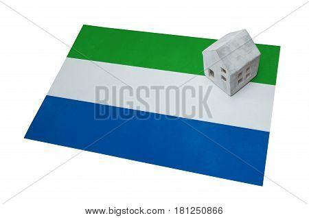 Small House On A Flag - Sierra Leone