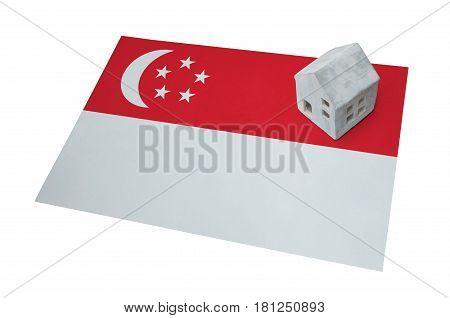 Small House On A Flag - Singapore