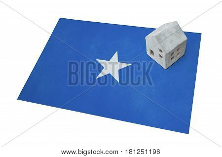 Small House On A Flag - Somalia