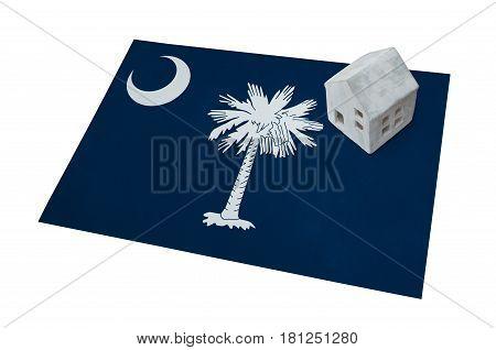 Small House On A Flag - South Carolina