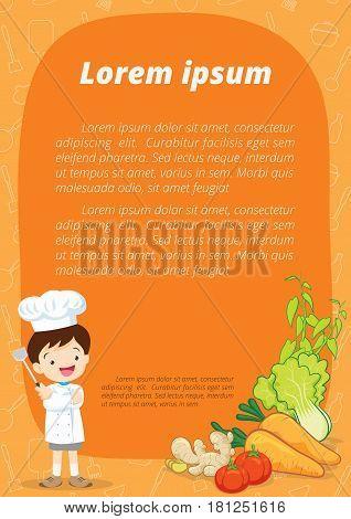 Little Chef Cartoon Illustration