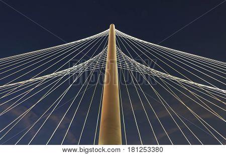 Margaret Hunt Hill Bridge Dallas TX USA