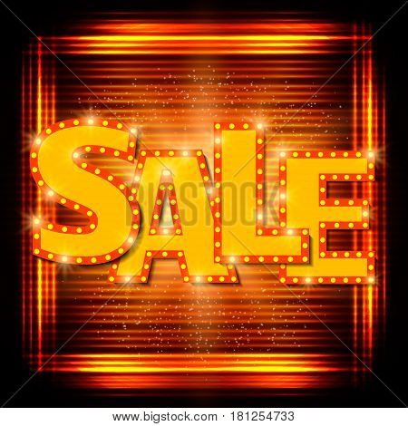 Sale Background With Shining Effect