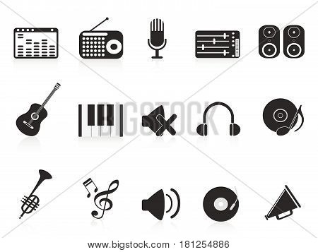 isolated music sound equipment icon on white background