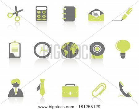 isolated green office icon on white background