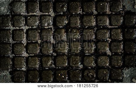 Grunge background, grunge texture. Abstract gray grunge background. Grunge metal. Manhole. Metal, metal background, metal texture.