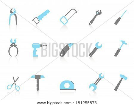 simple hand tool icons,color series on white