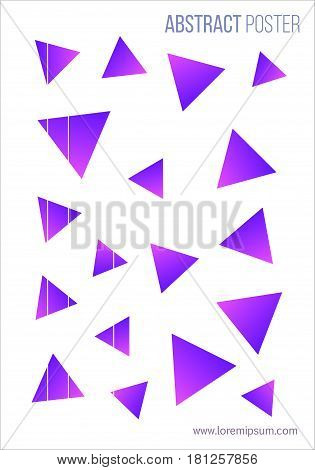 Abstract poster. Modern style trends. Vector illustration. Blend of abstract, vaguely organic shapes. 1980 - 90s style