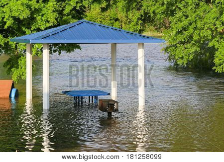 Flooding In A Park
