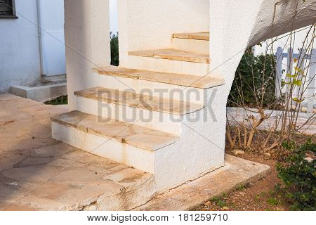 stair is interior in the building this is a luxury style
