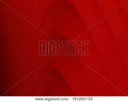 3D Abstract Background Of Red Curve Lines,valentine's Day, Love,  Illustration