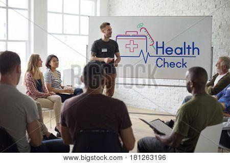 People medical health checkup examination