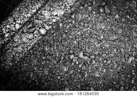 close up stone black asphalt texture background
