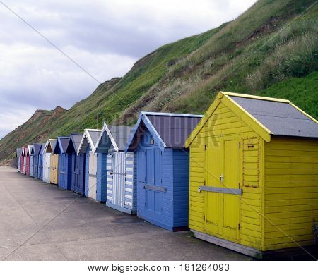 Chalets On The Promenade At Sheringham In Norfolk