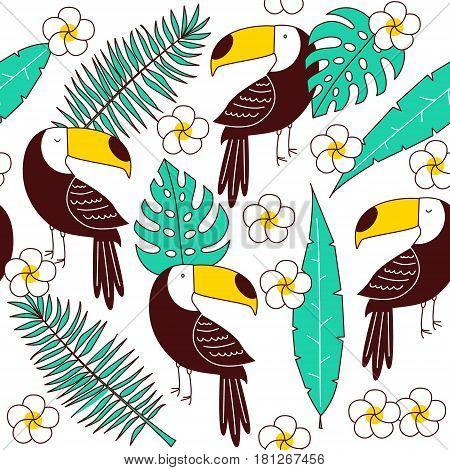 Toucan Seamless Patter