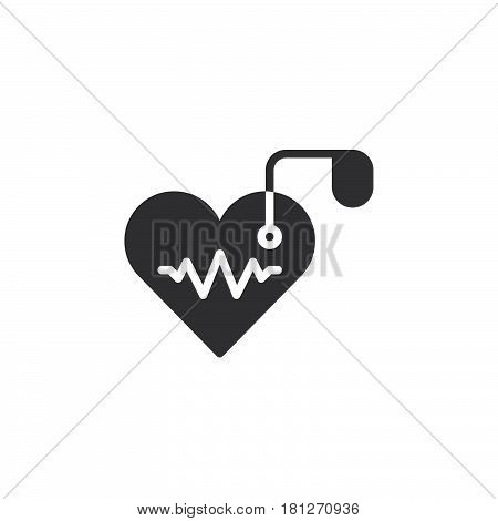 Artificial cardiac pacemaker icon vector filled flat sign solid pictogram isolated on white. Symbol logo illustration. Pixel perfect
