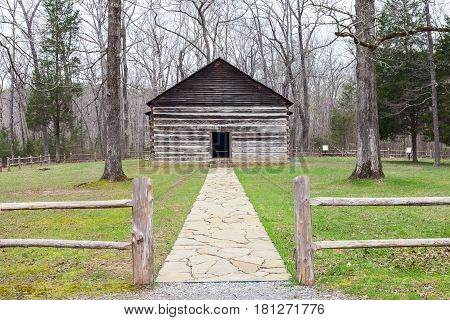Old Mulkey Meetinghouse State Historic Site in Kentucky