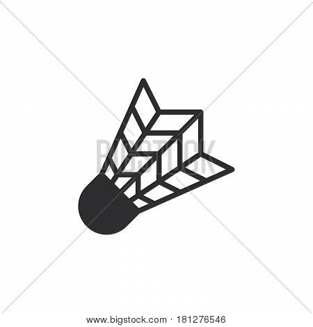Shuttlecock icon vector filled flat sign solid pictogram isolated on white. Badminton symbol logo illustration. Pixel perfect