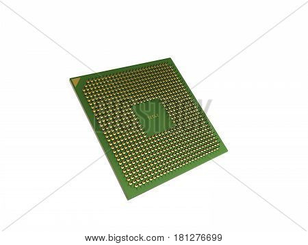 Central Computer Processors Cpu High Resolution 3D Render No Shadow