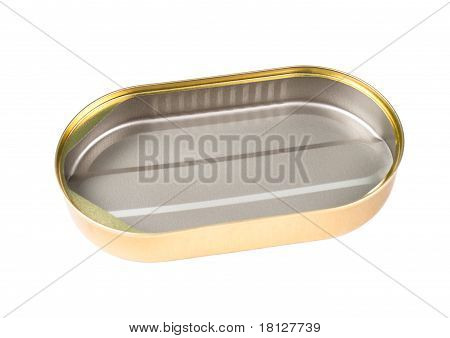 Empty Oval Can
