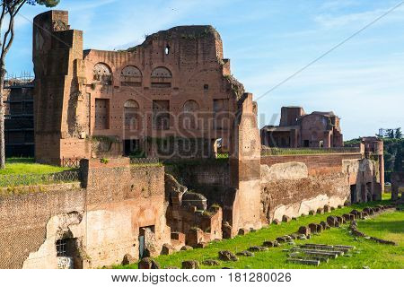 The Stadium of Domitian on the Palatine Hill in Rome, Italy