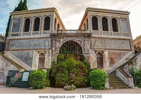 Ancient villa on the Palatine Hill in Rome, Italy