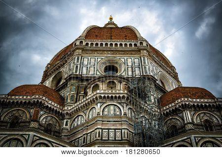 Basilica di Santa Maria del Fiore or Duomo (Basilica of Saint Mary of the Flower) in Florence, Italy