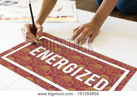 Energized creation creative drawing art