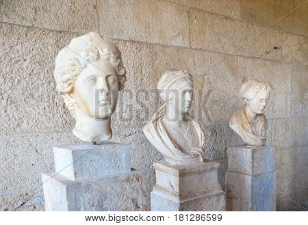 Ancient Busts In Athens