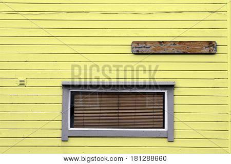 windows venetian blind wooden yellow wall house