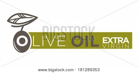 Olive oil product logos template. Extra virgin natural cooking oil vector isolated design for bottle package label