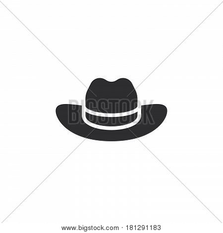 Men's Cowboy Hat icon vector filled flat sign solid pictogram isolated on white. Symbol logo illustration. Pixel perfect
