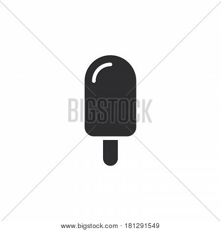 Ice lolly icon vector filled flat sign solid pictogram isolated on white. Ice cream symbol logo illustration. Pixel perfect