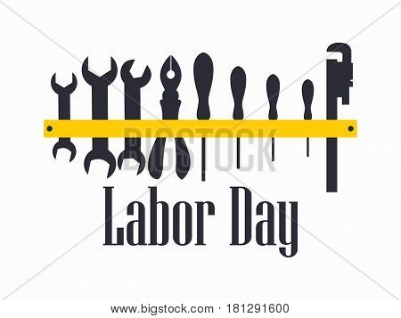 Labour Day. Engineer Labour Tools. Vector Illustration