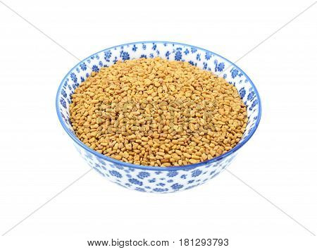 Fenugreek Seeds In A China Bowl