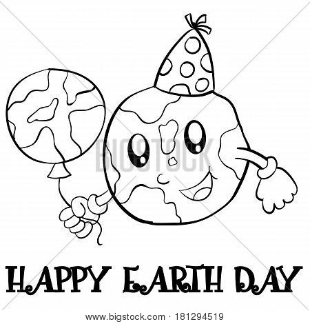 Collection stock earth day hand draw vector illustration