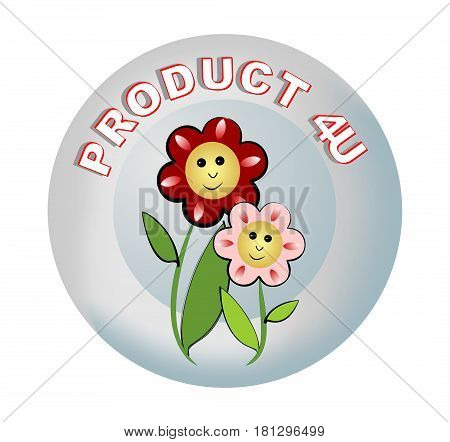 Label product recommendations with beautiful laughing flowers