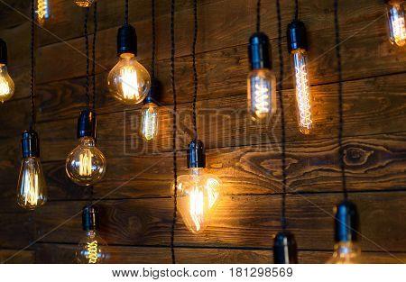 Antique filament light bulbs, yellow Edison light bulbs