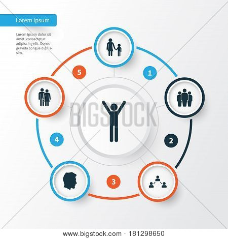Human Icons Set. Collection Of Network, Beloveds, Family And Other Elements. Also Includes Symbols Such As Family, Group, Couple.