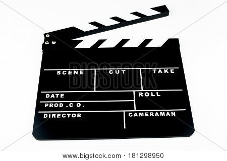The Clapper board isolated on white background