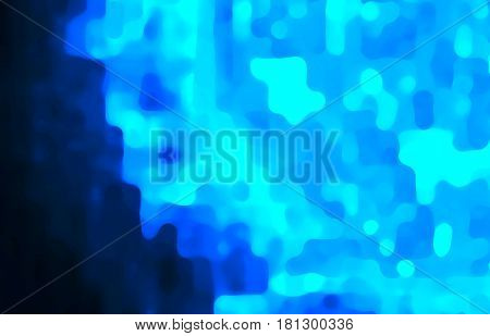 Star explosion, illustration with rays of blurred blue light for beautiful and interesting  backgrounds and textures.