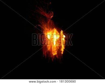Fire pattern among black darness power in fire