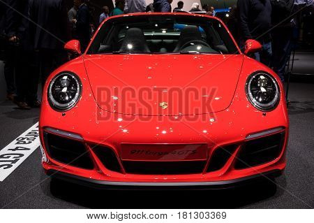 Porsche 911 Targa 4 Gts Sports Car