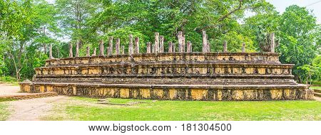 Panorama Of Polonnaruwa Archaeological Site