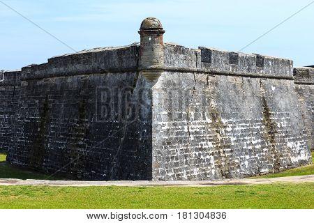 Castillo de San Marcos National Monument. St. Augustine Florida.